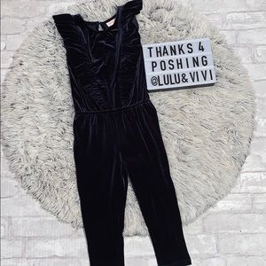 Other - CAT & JACK Blue Velvet Jumpsuit